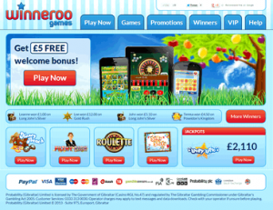 winneroo games UK mobile