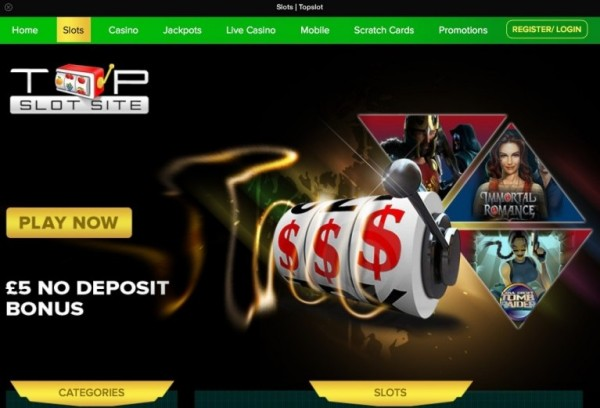 top slot sites website screenshot