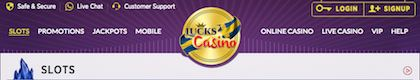 Lucks Mobile Casino Free £5 Bonus