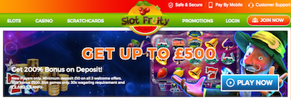 Slot Fruity Slots Pay by Phone Bill
